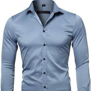 Other - Mens Dress Shirts Bamboo Button Down Casual Slim